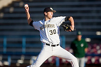 Starting pitcher Justin Van Grouw #30 of the Wake Forest Demon Deacons in action against the Charlotte 49ers at Wake Forest Baseball Park March 30, 2010, in Winston-Salem, North Carolina.  Photo by Brian Westerholt / Four Seam Images