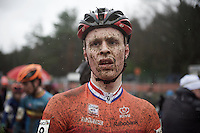 Marino Noordam (NLD) post-race<br /> <br /> Junior Men's race<br /> UCI 2016 cyclocross World Championships
