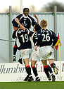 04/03/2006         Copyright Pic: James Stewart.File Name : sct_jspa06_falkirk_v_rangers.RUSSELL LATAPY IS CONGRATULATED AFTER HE SCORES FALKIRK'S GOAL......Payments to :.James Stewart Photo Agency 19 Carronlea Drive, Falkirk. FK2 8DN      Vat Reg No. 607 6932 25.Office     : +44 (0)1324 570906     .Mobile   : +44 (0)7721 416997.Fax         : +44 (0)1324 570906.E-mail  :  jim@jspa.co.uk.If you require further information then contact Jim Stewart on any of the numbers above.........