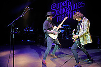 LONDON, ENGLAND - JULY 4: Supersonic Blues Machine performing at Shepherd's Bush Empire on July 4, 2018 in London, England.<br /> CAP/MAR<br /> &copy;MAR/Capital Pictures