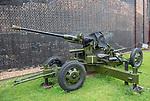Landguard Fort, Felixstowe, Suffolk, England, UK Bofors 40mm anti-aircraft gun Mk1