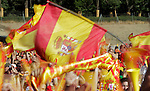 Spain's flags during the celebrations for the victory in the FIFA World Cup.July,12,2010..(ALTERPHOTOS/Acero)