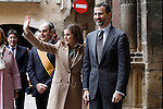 Prince Felipe of Spain and Princess Letizia of Spain visit Alcaniz village on November 7, 2012 in Alcaniz, Teruel, Spain. (ALTERPHOTOS/Acero)