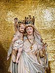 Madonna and gold, Parish S Martino Vescovo, the colorful village of Burano, Italy.