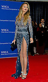 Chrissy Teigen arrives for the 2015 White House Correspondents Association Annual Dinner at the Washington Hilton Hotel on Saturday, April 25, 2015.<br /> Credit: Ron Sachs / CNP