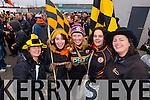 Mary B Murphy, Sarah Barry, Andea O'Donoghue, Anne Barry and Niamh CollinsAustin Stacks supporters at the Austin Stacks v Slaughtneil All Ireland Club Football Semi Final in Portlaoise on Sunday.