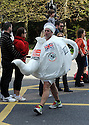 London Marathon 2012.Fun runners.tired tea pot......Pic by Gavin Rodgers/Pixel 8000 Ltd