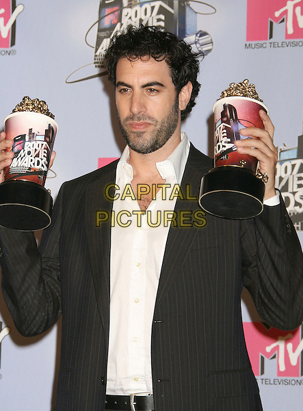 SASH BARON COHEN.Press Room - 2007 MTV Movie Awards,  Gibson Amphitheater, Universal City, California, USA,.3rd June 2007..half length beard trophy trophies awards.CAP/ADM/RE.©Russ Elliot/AdMedia/Capital Pictures. *** Local Caption *** ...