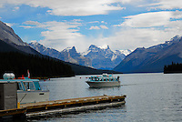 Tour boats on Maligne Lake Jasper National Park