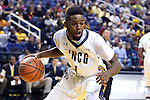 08 November 2013: UNCG's Drew Parker. The University of North Carolina Greensboro Spartans played the High Point University Panthers in a 2013-14 NCAA Division I men's college basketball game at the Greensboro Coliseum in Greensboro, North Carolina. UNCG won the game 82-74.