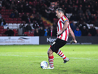 Lincoln City's Matt Rhead scores from the penalty spot<br /> <br /> Photographer Andrew Vaughan/CameraSport<br /> <br /> The EFL Checkatrade Trophy Northern Group H - Lincoln City v Wolverhampton Wanderers U21 - Tuesday 6th November 2018 - Sincil Bank - Lincoln<br />  <br /> World Copyright © 2018 CameraSport. All rights reserved. 43 Linden Ave. Countesthorpe. Leicester. England. LE8 5PG - Tel: +44 (0) 116 277 4147 - admin@camerasport.com - www.camerasport.com