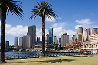 The Central Business District of Sydney from Dawes Point Park.