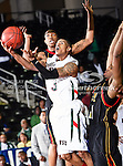 Mississippi Valley State Delta Devils guard Terrence Joyner (3) in action during the SWAC Tournament game between the Grambling State Tigers and the Mississippi Valley State Delta Devils at the Special Events Center in Garland, Texas. Grambling State defeats Mississippi Valley 65 to 62