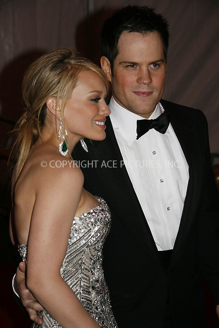WWW.ACEPIXS.COM . . . . .....May 5, 2008. New York City.....Hilary Duff and Mike Comrie leaving the 'Superheroes: Fashion and Fantasy' Costume Institute Gala at The Metropolitan Museum of Art...  ....Please byline: NANCY RIVERA - ACEPIXS.COM.. *** ***..Ace Pictures, Inc:  ..Philip Vaughan (646) 769 0430..e-mail: info@acepixs.com..web: http://www.acepixs.com