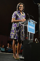 MIAMI FL - NOVEMBER 1 : First Lady Michelle Obama remarks at a Grassroots campaign event at The James L. Knight Center on November 1, 2012, in Miami Florida.  Credit: mpi04/MediaPunch Inc. /NortePhoto .<br />