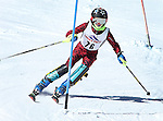 LEAD, SD - JANUARY 31, 2016 -- Walker Henyon works through the slalom in the U12 category during the 2016 USSA Northern Division Ski Races at Terry Peak Ski Area near Lead, S.D. Sunday. (Photo by Richard Carlson/dakotapress.org)