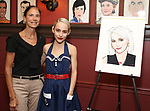 Gabrielle Palitz and Sophia Anne Caruso during the Sophia Anne Caruso Sardi's Portrait Unveiling at Sardi's on July 10, 2019 in New York City.