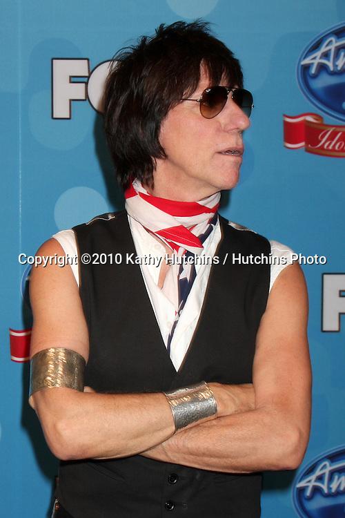 """Jeff Beck.in the """"Idol Gives Back"""" Press Room.Pasadena Civic Center.Pasadena, CA.April 21, 2010.©2010 Kathy Hutchins / Hutchins Photo..."""