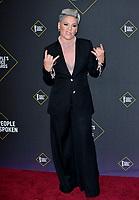 SANTA MONICA, USA. November 11, 2019: Pink at the 2019 E! People's Choice Awards at Santa Monica Barker Hangar.<br /> Picture: Paul Smith/Featureflash