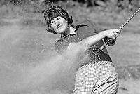 Claire Nesbitt, aka Claire Robinson, Knock Golf Club, Belfast, N Ireland, Irish Ladies Golf Champion &amp; Ulster Ladies Golf Champion, August 1976, exits a bunker. 197608000372a<br /> <br /> Copyright Image from Victor Patterson, 54 Dorchester Park, Belfast, UK, BT9 6RJ<br /> <br /> t: +44 28 90661296<br /> m: +44 7802 353836<br /> vm: +44 20 88167153<br /> e1: victorpatterson@me.com<br /> e2: victorpatterson@gmail.com<br /> <br /> For my Terms and Conditions of Use go to www.victorpatterson.com