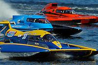 "Kevin Eacret, GP-55 , Brandon Kennedy, GP-25 ""Miss KOMA Unwind"" and Bert Henderson, GP-79 ""Bad Influence"" (Grand Prix Hydroplane(s)"