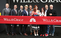 UNIVERSAL CITY, CA - AUGUST 02: Sean Hayes, Debra Messing, Megan Mullally, Eric McCormack, Eric Garcetti, Max Mutchnick, David Kohan, James Burrows, Robert Greenblatt, At 'Will & Grace' Start Of Production Kick Off Event And Ribbon Cutting Ceremony At Universal City Plaza  In California on August 02, 2017. Credit: FS/MediaPunch
