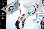 Yuriko Koike, <br /> JULY 24, 2017 : <br /> The countdown event Tokyo 2020 Flag Tour Festival and 3 Years to Go to the Tokyo 2020 Games, <br /> at Tokyo Metropolitan Buildings in Tokyo, Japan. <br /> (Photo by Yohei Osada/AFLO SPORT)
