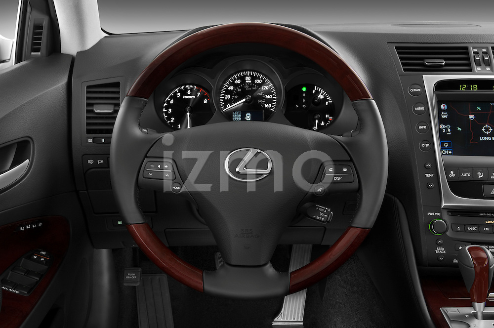 Steering wheel view of a 2008 Lexus GS 460