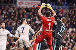 Real Madrid's Cristiano Ronaldo and Real Sociedad's Geronimo Rulli and David Zurutuza during La Liga match between Real Madrid and Real Sociedad at Santiago Bernabeu Stadium in Madrid, Spain. January 29, 2017. (ALTERPHOTOS/BorjaB.Hojas)