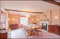 BNPS.co.uk (01202 558833)<br /> Pic: CarterJonas/BNPS<br /> <br /> ***Please Use Full Byline***<br /> <br /> The Dining room in Little Easton manor. <br /> <br /> <br /> One of Britain's most historic country houses which boasts a theatre that has played host to Charlie Chaplin and H.G. Wells has gone on the market with a &pound;5 million price tag.<br /> <br /> In the early 1900s the sprawling estate's tithe barn was transformed into a theatre in which the great and the good of the acting world flocked to perform.<br /> <br /> Edwardian actress Ellen Terry gave poetry readings there while War of the Worlds author H.G. Wells, who lived with his family in a house on the estate, also frequented the theatre.<br /> <br /> Other regular performers included Charlie Chaplin, Gracie Fields and George Formby.<br /> <br /> In more recent years it has welcomed famous faces such as Rowan Atkinson, Bill Cotton, Tim Rice, Esther Rantzen and even the cast of Eastenders.<br /> <br /> The 17th century Grade II listed manor is on the market with Carter Jonas estate agents for &pound;5 million.