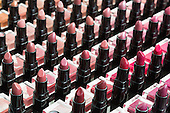London, UK. 11 April 2015. Lipsticks on sale. United Makeup Artists Expo (UMAe),  the UK's leading aspiring and professional hair and makeup artist trade show, gets underway at the Business Design Centre in Islington, London, UK. It runs until Sunday, 12 April. At this trade show leading professionals provide demonstrations and the latest techniques and products are showcased.