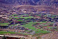 Atlal Mountains and fertile valley,  Morocco
