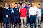 Barton Shield Junior Cup West Munster Final Killarney Golf Club Team Front Row L-R Liam Healy, Mark Tuite, Finbarr Mahony, Liam Hartnett,<br /> Back Row L-R Brendan O'Toole, Derry McCarthy, Robert Cussen, Niall McCarthy,