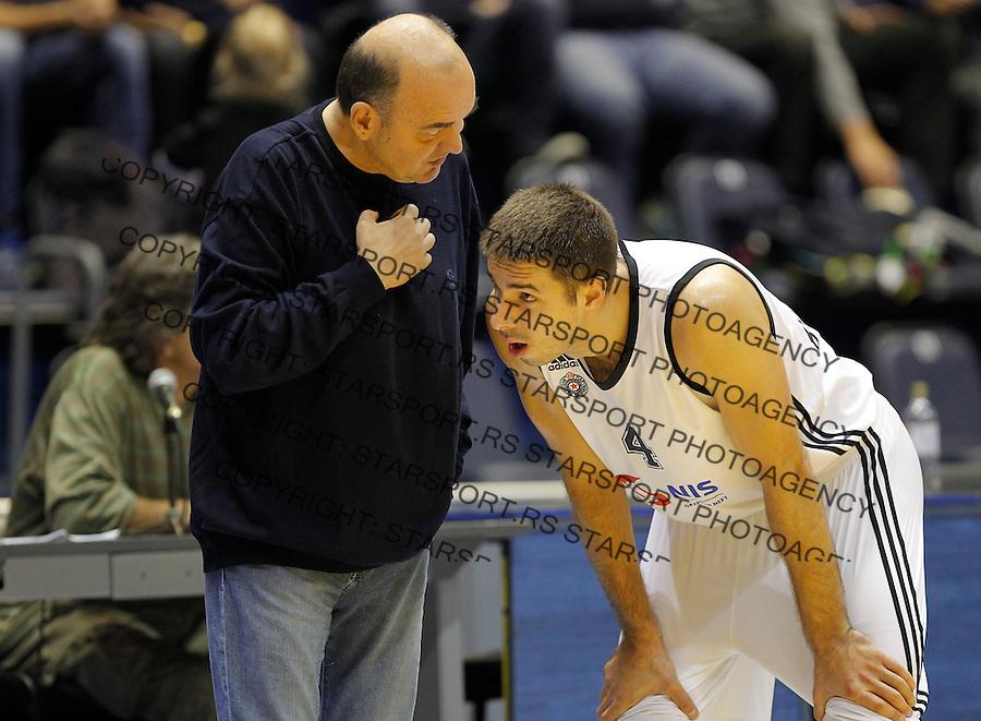 Kosarka Friendly match season 2014-2015<br /> Partizan Vs. Armani Jeans<br /> Head coach Dusko Vujosevic and Milenko Tepic<br /> Beograd, 25.09.2014.<br /> foto: Srdjan Stevanovic/Starsportphoto&copy;