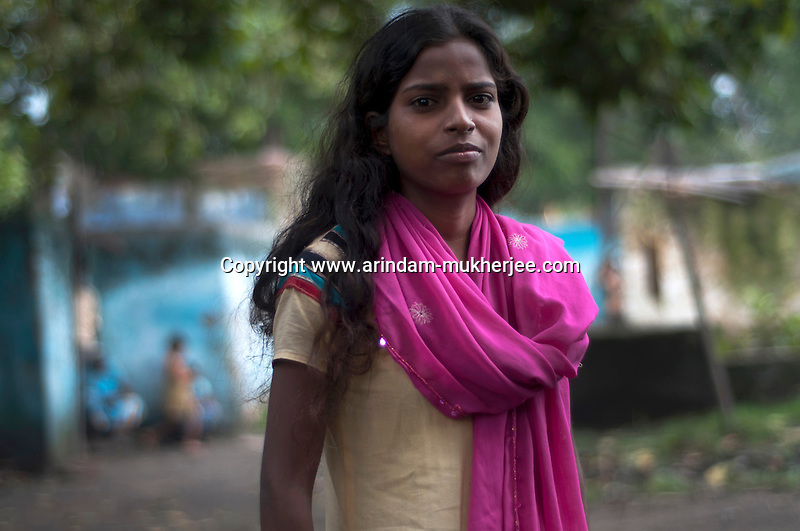 Kanchan kumari, best friend of Jyoti - a girl who died in 2008, as she fell inside the fire pit because of a land slide. Kujama, Jharia. A huge coal mine fire is engulfing the city of Jharia from all its sides. All scientific efforts have gone in vain to stop this raging fire. This fire is affecting lives of people living in and around Jharia. Jharkhand, India. Arindam Mukherjee