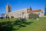 Holy Trinity church, one of the finest wool churches, Suffolk, England