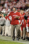 December 29, 2009: Wisconsin Badgers  head coach Bret Bielema looks on against the Miami Hurricanes during the NCAA football Champs Sports Bowl at the Florida Citrus Bowl on December 29, 2009 in Orlando, Florida. The Badgers won 20-14. (Photo by David Stluka)