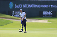 Adrian Meronk (POL) on the 18th green during the 3rd round of  the Saudi International powered by Softbank Investment Advisers, Royal Greens G&CC, King Abdullah Economic City,  Saudi Arabia. 01/02/2020<br /> Picture: Golffile | Fran Caffrey<br /> <br /> <br /> All photo usage must carry mandatory copyright credit (© Golffile | Fran Caffrey)