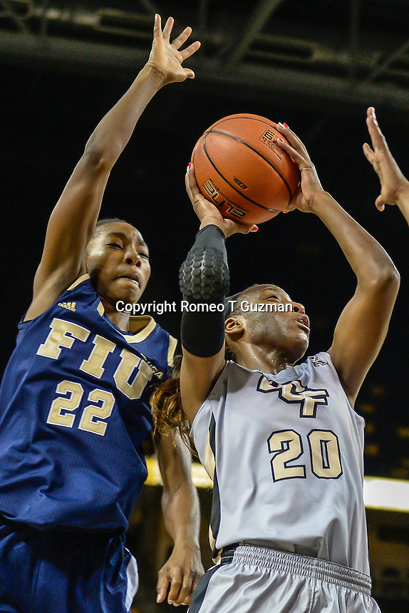 November 15, 2013 - Orlando, FL, U.S: \  during second half women's NCAA basketball game action between the FIU Panthers and the UCF Knights. UCF defeated FIU 71-66  at CFE Arena in Orlando, Fl.