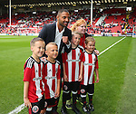 Kell Brook poses with the mascots during the League One match at Bramall Lane Stadium, Sheffield. Picture date: September 17th, 2016. Pic Simon Bellis/Sportimage