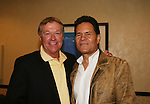 """OLTL's Jerry verDorn """"Clint Buchanan"""" poses with A Martinez at the One Life To Live Fan Club Luncheon on August 16, 2008 at the New York Marriott Marquis, New York, New York.  (Photo by Sue Coflin/Max Photos)"""