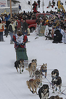 Kirk Barnum Willow restart Iditarod 2008.