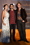 51 Festival Internacional de Cinema Fantastic de Catalunya-Sitges 2018.<br /> Festa Mistinguett-Blood Red Carpet.<br /> Hattie Smith, Nicholas Woods & Michel Peter Harrison.