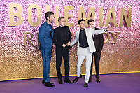 LONDON, UK. October 23, 2018: Gwilym Lee, Ben Hardy, Rami Malek &amp; Joe Mazzello at the world premiere of &quot;Bohemian Rhapsody&quot; at Wembley Arena, London.<br /> Picture: Steve Vas/Featureflash