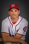 22 February 2019: Washington Nationals first baseman Ryan Zimmerman poses for his Photo Day portrait at the Ballpark of the Palm Beaches in West Palm Beach, Florida. Mandatory Credit: Ed Wolfstein Photo *** RAW (NEF) Image File Available ***
