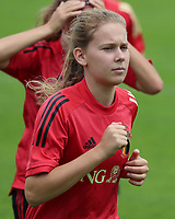20200627 - TUBIZE , Belgium : Jarne Teulings pictured doing the warm up run during training session of the Belgian Red Flames U19, on the 27 th of June 2020 in Tubize.  PHOTO SEVIL OKTEM| SPORTPIX.BE