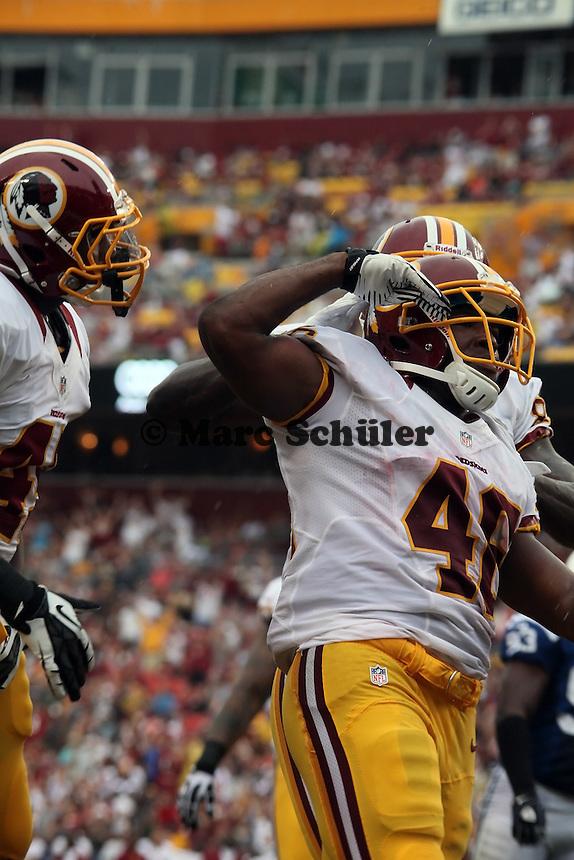 RB Alfred Morris (Redskins) jubelt ueber den Touchdown