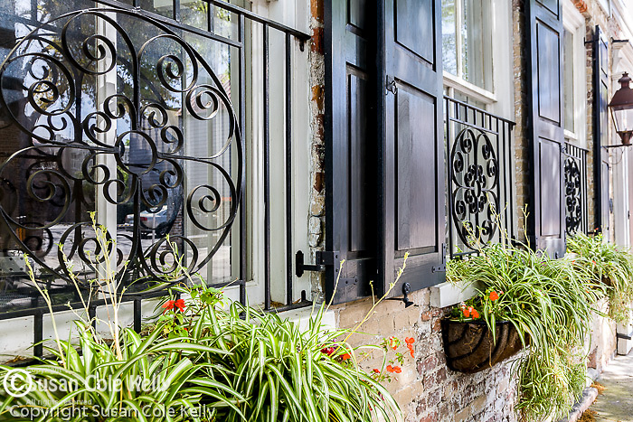 Historical architecture in the French Quarter,  Charleston, SC