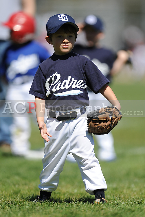 The T-Ball Padres of Pleasanton National Little League  March 28, 2009.