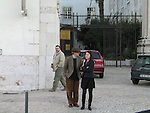 *** EXCLUSIVE Coverage ***.Woody Allen and Soon-Yi Previn visiting the National Tile Museum in Lisbon, Portugal..December 31, 2004.© Walter McBride /
